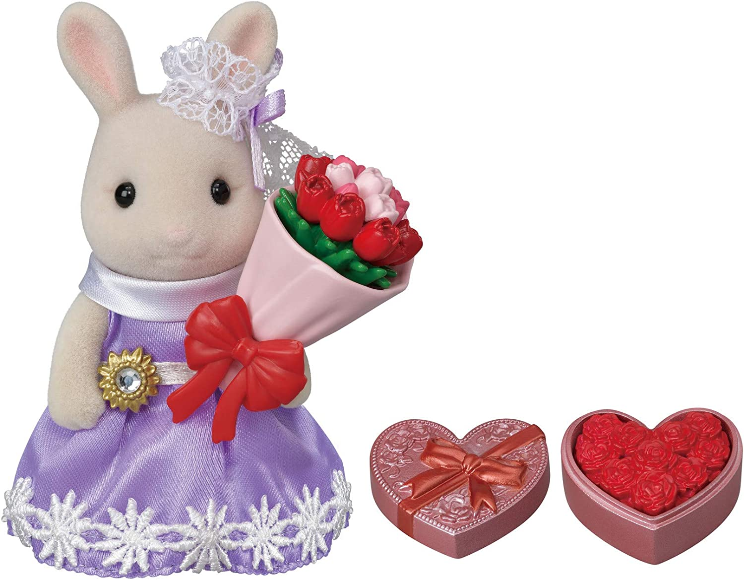Calico Critters Town Series Flower Gifts Playset, Dollhouse Playset with Figure and Accessories