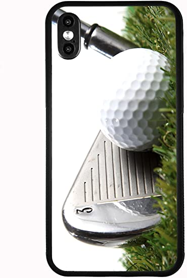 Amazon Com 3 Iron Golf Club Hitting Golf Ball For Iphone Xs 2018 Iphone X 2017 Case Cover By Atomic Market