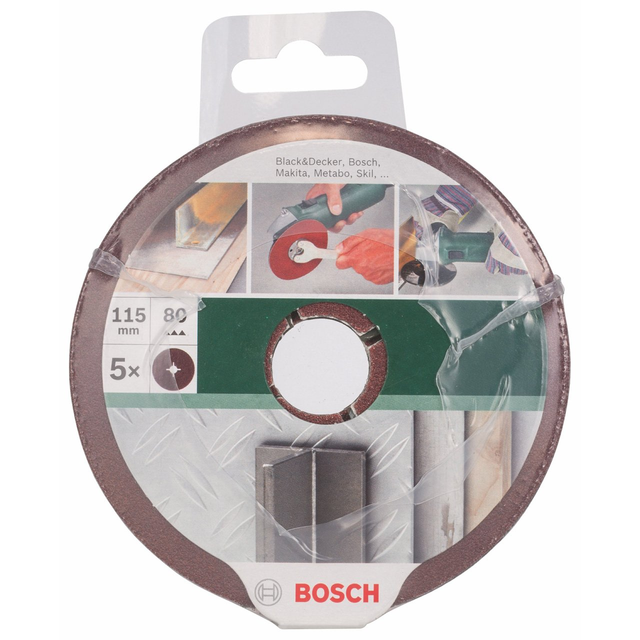 Bosch 2609256243 Marr/ón granulaci/ón: 80 Muela de fibra 115mm