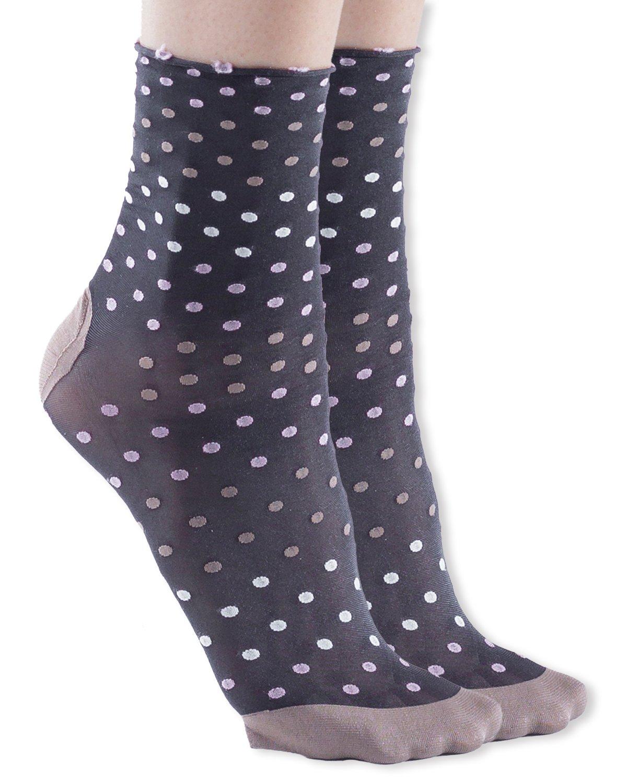 Trasparenze Trifoglio Dress Socks, Nero/A