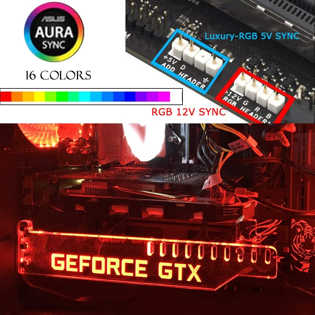 GEFORCE GPU Anti-Sagging Support Bracket//Brace NVIDIA AMD GTX WHITE//RED