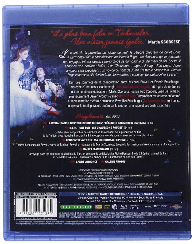 Les Chaussons rouges  Blu-ray   Amazon.fr  Anton Walbrook, Marius Goring,  Moira Shearer, Robert Helpmann, Leonide Massine, Albert Bassermann, Michael  Powell ... 43f55df75db6