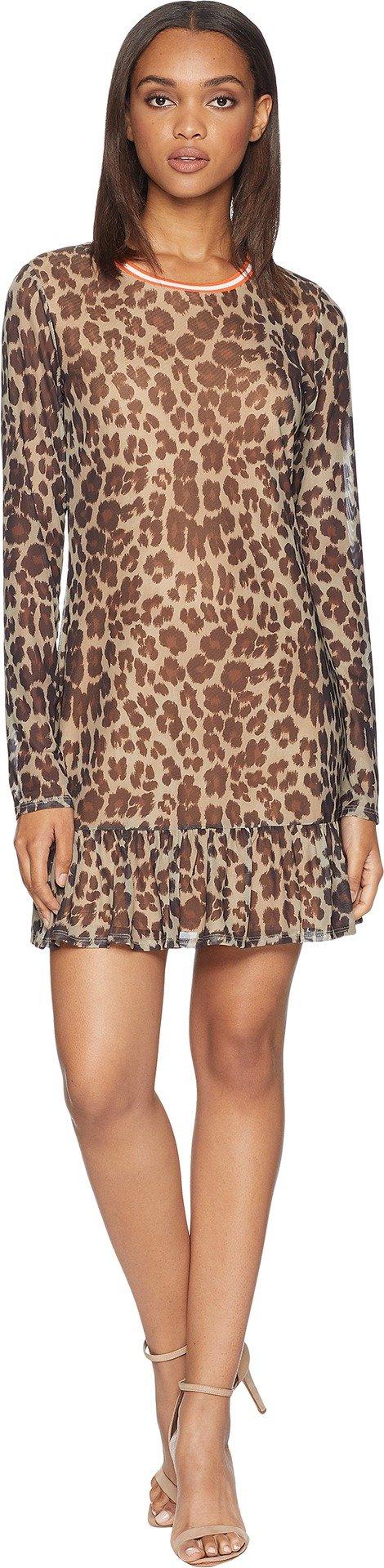 Juicy Couture Women's Leopard Print Drop Waist Bell Sleeve Dress Multi Regent Leopard Medium