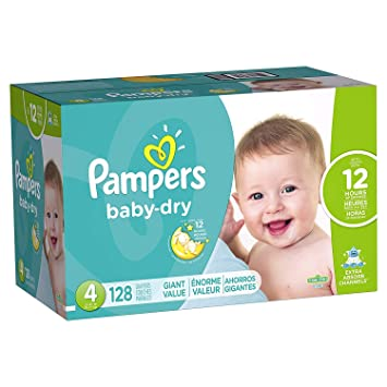 Pampers Baby-Dry Disposable Diapers Size 4, 128 Count
