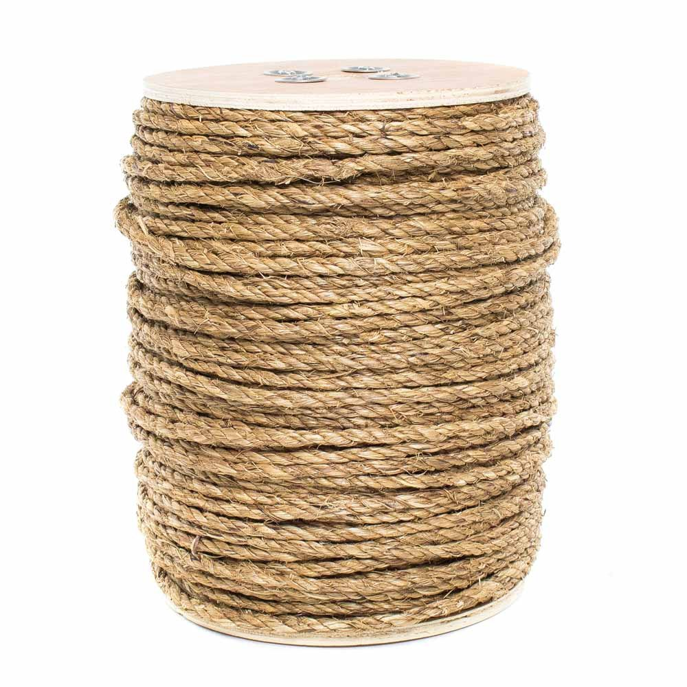 Golberg Natural Fiber Tan Manila Rope in Multiple Diameters in 10 Feet 25 Feet 50 Feet 100 Feet 600 Feet Lengths GOLBERG G