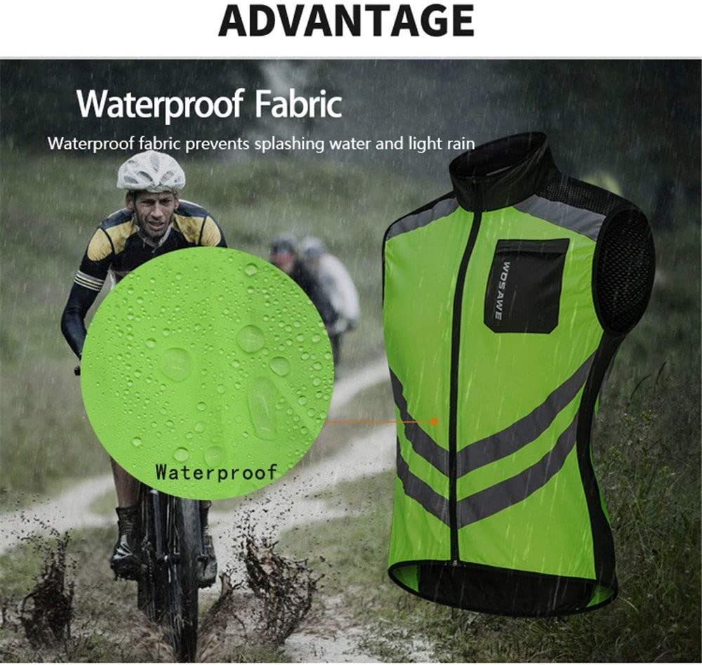 WOSAWE Homme Gilet de Cyclisme Ultral/éger Respirant Veste sans Manches de V/élo Coupe-Vent avec Haute Visibilit/é