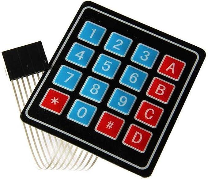 1 Unidades Teclado Matriz Membrana 4x4 Modulo Teclado ...