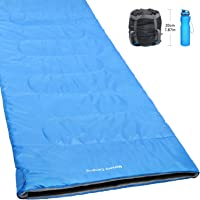 Norsens Lightweight Warm Weather Sleeping Bag with Compact Compression Sack for Camping, Backpacking, Hiking, Traveling and Other Outdoor Activities. 78.8 x 32.6 in, XL