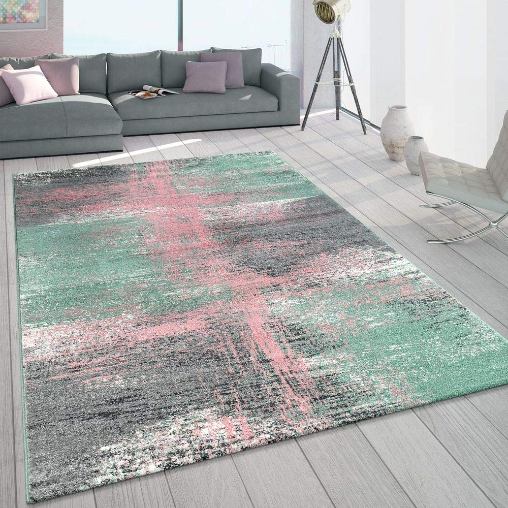 Couleur:Mehrfarbig Paco Home Tapis Salon Moderne Poils Courts Pastel Galaxie Dimension:60x100 cm