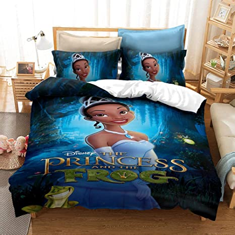 Amazon Com Mulmf Tiana Princesses Duvet Cover Set The Princess And Frog 3d Print Kids Adult Bed Bedding 2 Piece Twin Size Home Kitchen