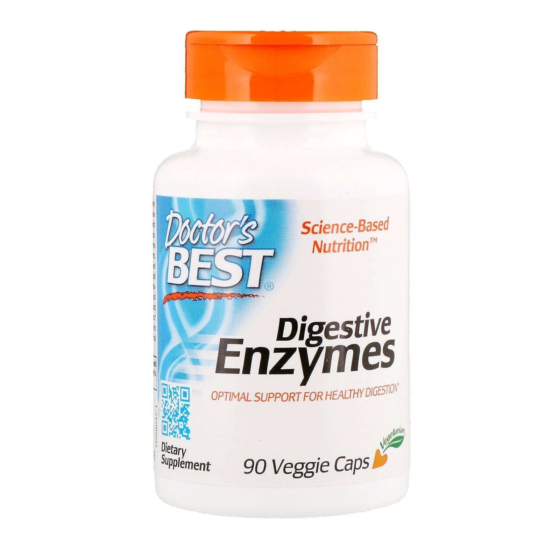 Doctors Best | Enzimas digestivas | 90 cápsulas vegetarianas | sin gluten