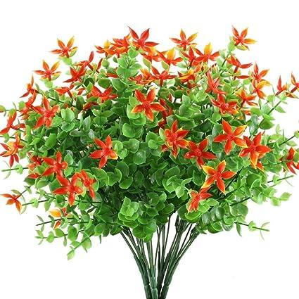 Mihounion Ramas Eucalipto Plantas Verdes Artificiales Flores De - Plantas-verdes-exterior