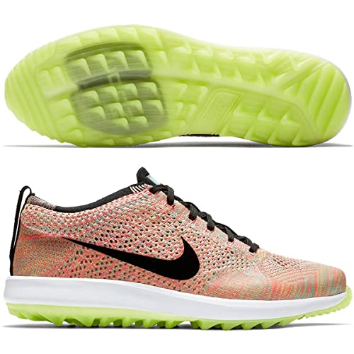 low priced b70d7 c36b2 Nike Flyknit Racer G Spikeless Golf Shoes 2018 Women Hyper JadeBlack Hot  Punch