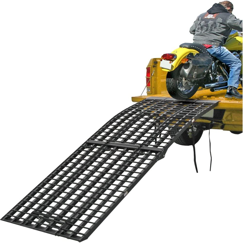 Black Widow BW-10840-HD 108 3-Piece Heavy Duty Folding Arched Motorcycle Ramp