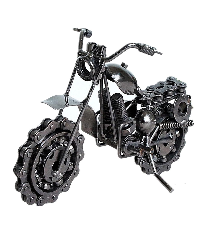 WODEJIAYUAN Geburtstags-kreatives Eisen-Motorrad-Modell-Ornamente Personalisierte Geschenk-Kinder spielt Spielzeug-Rad bewegt werden kann ein Geschenk (M5A)