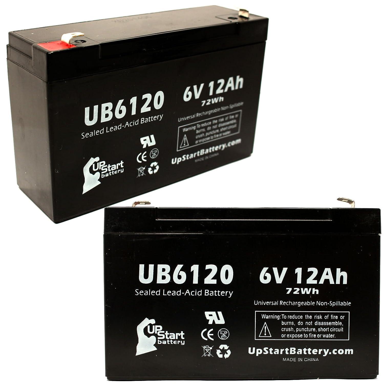 2xパック - POWER PATROL SLA0959 互換バッテリー : POWER UB6120 シールド鉛蓄電池 バッテリー対応 (12Ah, 6V, SLA, AGM) B00LRUGQE6