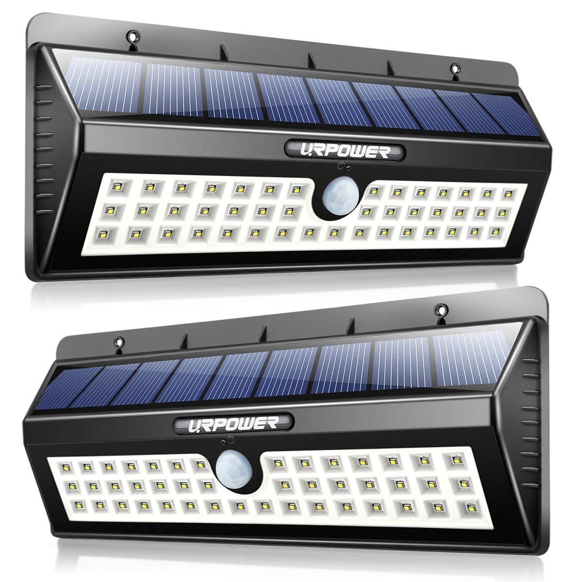 URPOWER Solar Lights, 44 LED Waterproof Motion Sensor Lights Outdoor Wireless Solar Powered Wall Light Motion Activated Auto On/Off Solar Security Lights Outdoor for Patio Deck Yard Cool White 2 Pack by URPOWER