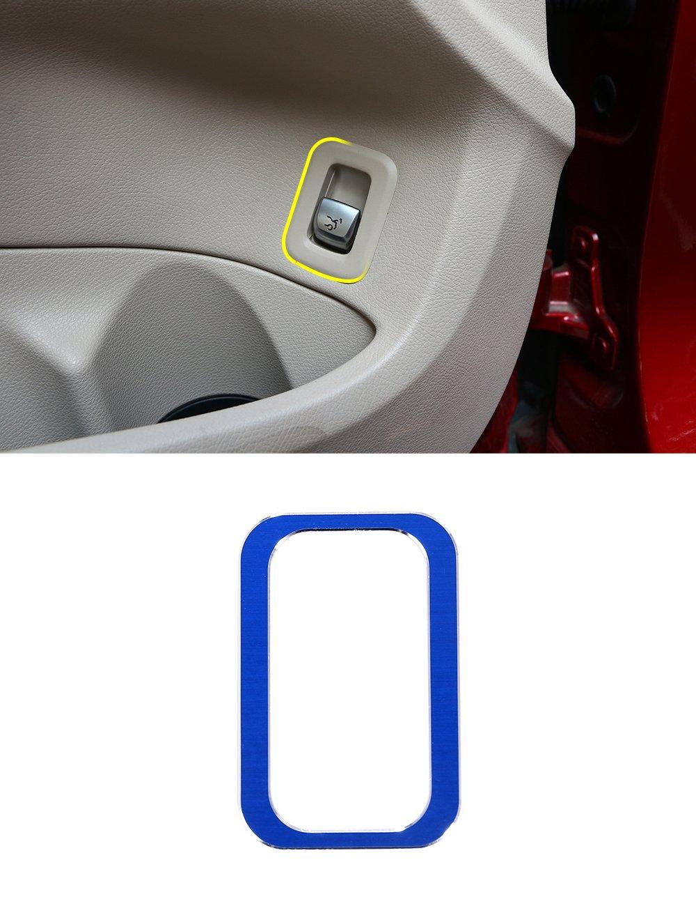 METYOUCAR Aluminium Alloy Rear Trunk Button Cover Trim Accessories(silver)