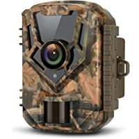 LETSCOM Trail Game Camera 16MP 1080P, 0.4s Trigger Speed Scouting Hunting Cams with Night Vision Motion Activated for Outdoor Wildlife Monitoring and Home Surveillance Yellow