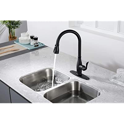 Buy Touchless Kitchen Faucet With Pull Down Sprayer Single Handle Motion Sensor Kitchen Faucet With 360 Degree Swivel Matte Black Stainless Steel High Arc Kitchen Faucet With 3 Various Spray Functions Online