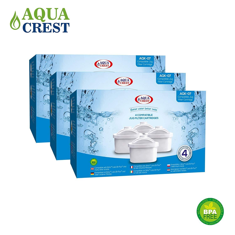 AquaCrest AQK-07 Compatible Brita Mavea Maxtra 106832 Jug Filter Cartridges (12) Prezzi
