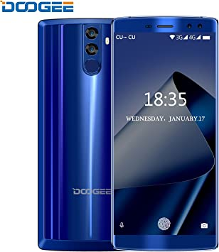 Smartphone Baratos, DOOGEE BL12000 4G Móviles y Smartphones Libres, 6.0 Pulgadas FHD+, Dual Sim Android 7.0 Telefonos, Octa-Core MT6750T 1.5GHz, 12000mAh 4GB+32GB (Ampliable 256GB), 16.0MP+13.0MP Cámaras Traseras Duales, Huella Dactilar- Azul: Amazon.es: