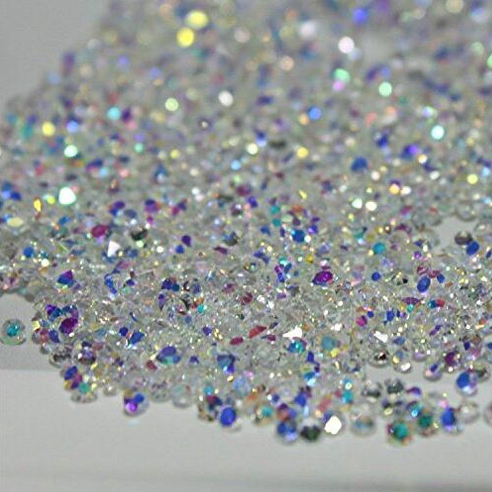 MOPRETTY New 1440Pcs Ultra Mini 1.2mm Diamond Shining Diy Rhinestones Crystal Rhinestones Need Glue Phone & Nail Art Decoration Clear + 1 FREE Triangle Plate Guangzhou Duoqianer Trade Co. Ltd.