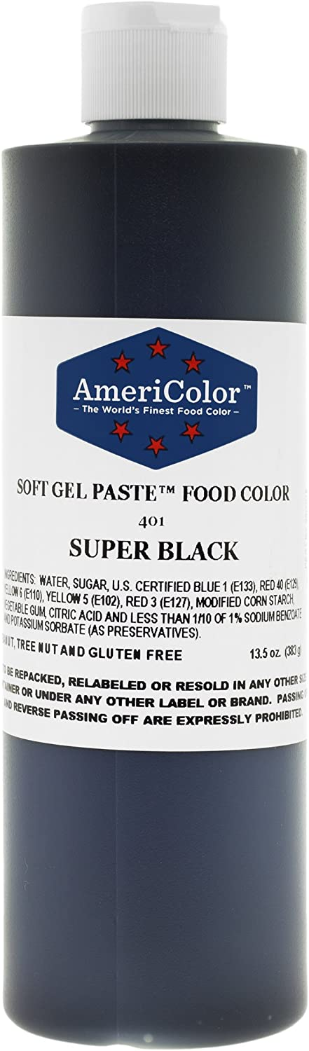AmeriColor Soft Gel Paste Food Color, 13.5-Ounce, Super Black