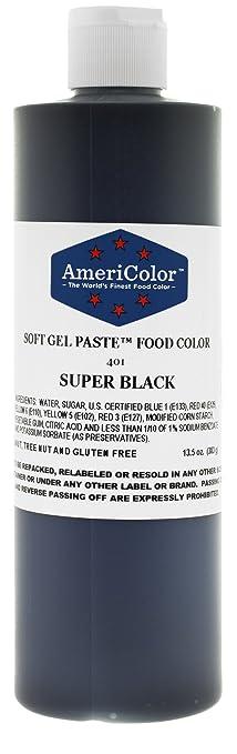 Buy AmeriColor Super Black 13.5 Ounce Soft Gel Paste Food Color ...