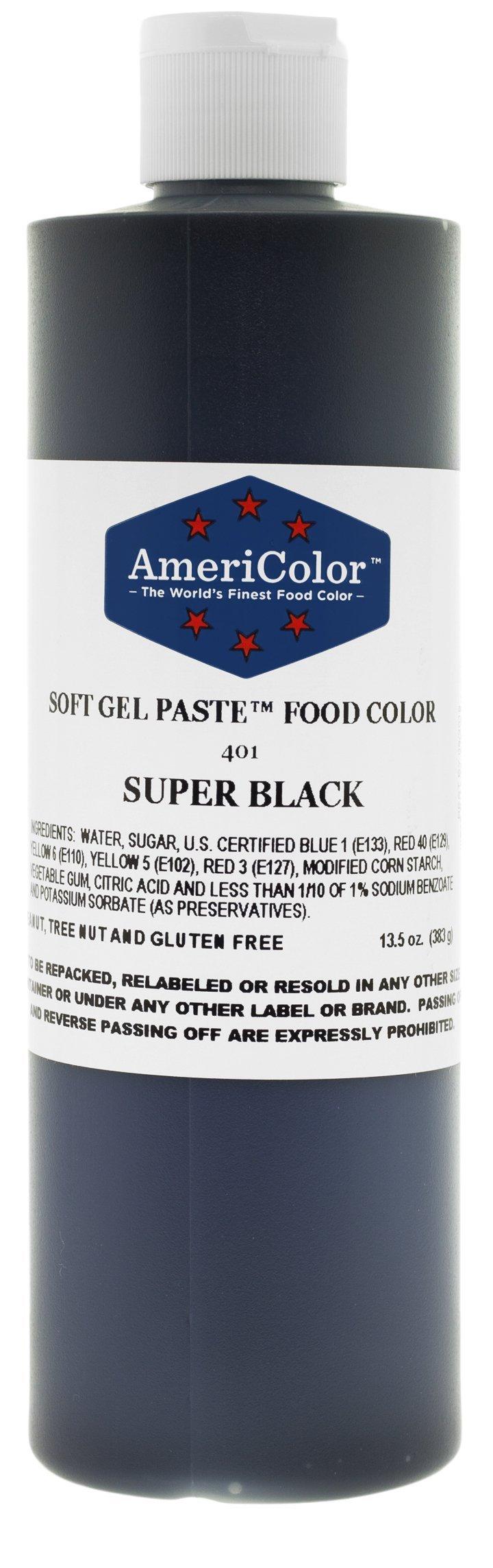 AmeriColor Soft Gel Paste Food Color, 13.5-Ounce, Super Black