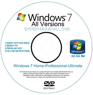 HP - Windows 7 - 32 Bit Recovery Boot Disc Disk CD [ALL