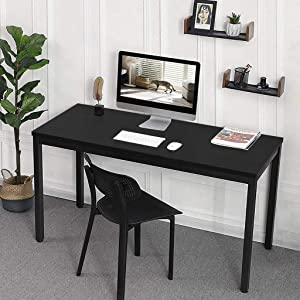 HADSAHAAE Black Home Office Computer Desk, Modern Simple Economical Desktop Computer Desk Laptop Study Table Office Desk Workstation (120 x 60 x 75 cm)