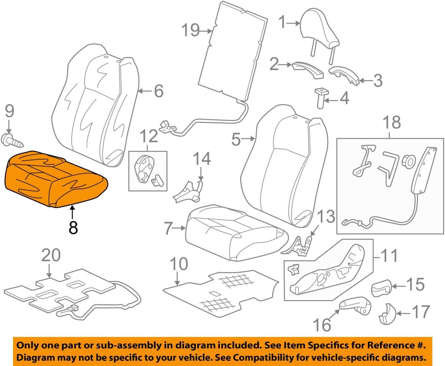 Honda Genuine 81131-SDA-A01ZA Seat Cushion Trim Cover Front Right