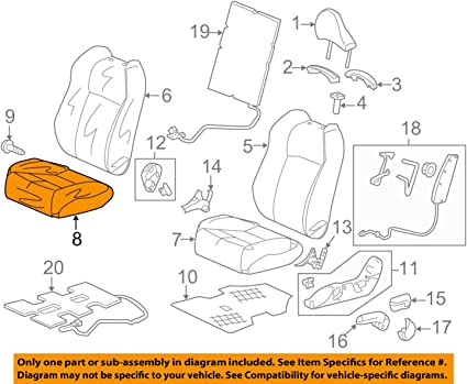Front Honda Genuine 81131-SZT-A01ZB Seat Cushion Trim Cover Right