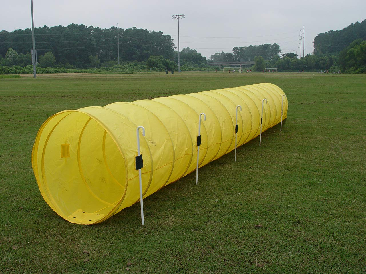 14' Dog Agility Tunnel with Stakes, Multiple Colors Available (Yellow)