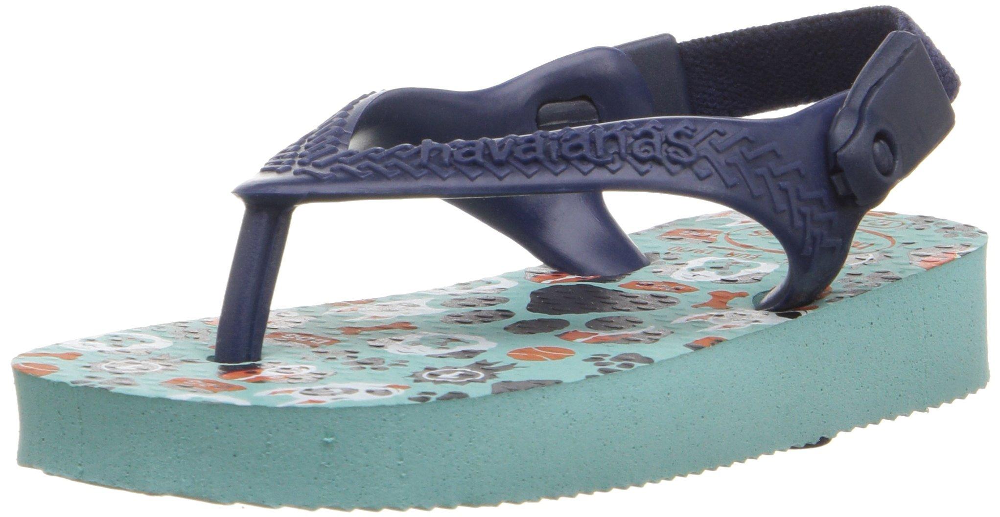Havaianas Kids Flip Flop Sandals, Baby Pets, Ice Blue/Navy Blue,Ice Blue/Navy Blue,19 BR (5 M US Toddler)