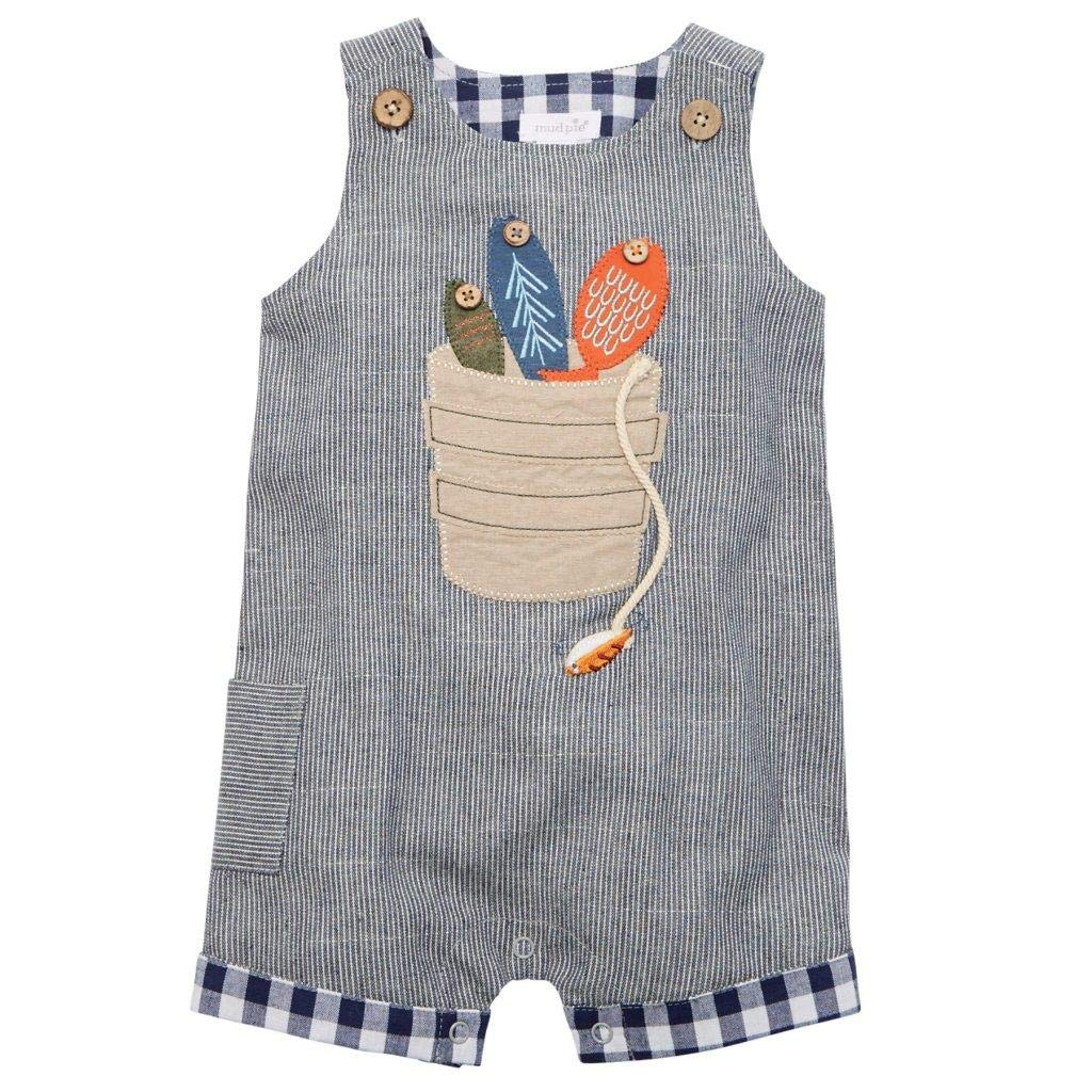 Mud Pie Baby Boys Fishing Bucket Shortall Infant