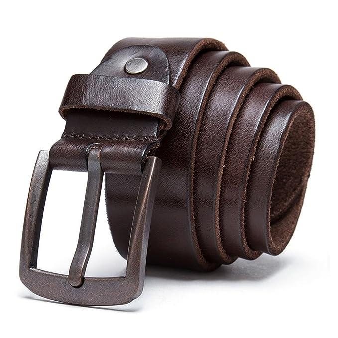 2aaf63ba5fa7 TAIPOVE Cinturón de Cuero para Hombre  Amazon.es  Ropa y accesorios