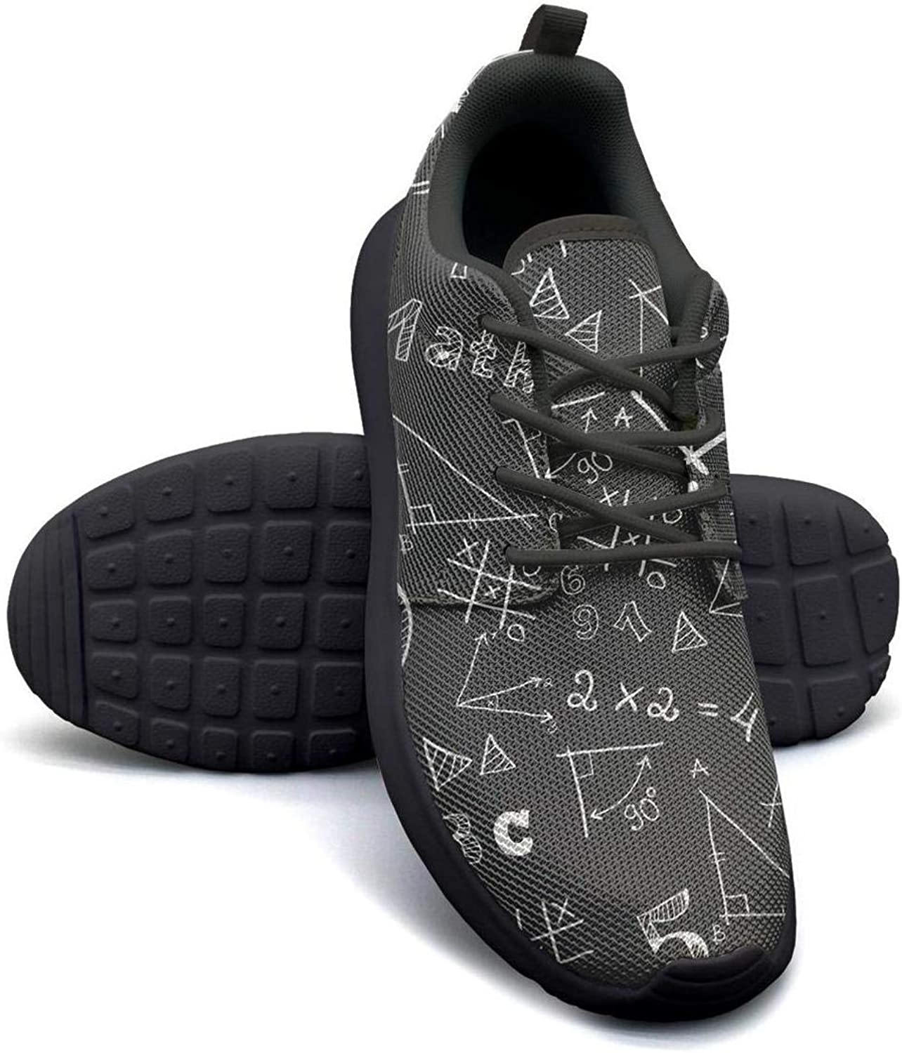 dhaskhdkl Black Math Calculus Equations Men Skateboard Casual Shoes Sneakers Cute Fitness Shoe