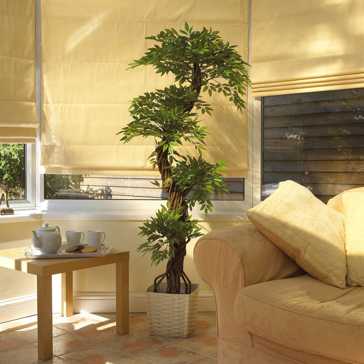 Charming Luxury Artificial Japanese Fruticosa Tree, Stylish Replica Indoor Plant    165cm Tall