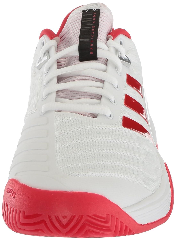 adidas Women's Barricade 2018 W Tennis Shoe B071Z87W46 5.5 B(M) US|White/Scarlet/Scarlet