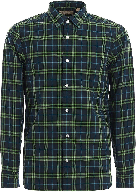 BURBERRY Luxury Fashion Hombre 8003103 Verde Camisa | Temporada Permanente: Amazon.es: Ropa y accesorios