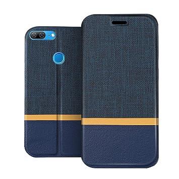 RIFFUE Funda Honor 9 Lite, Carcasa Delgada Libro de Cuero con Tapa Cartera de Ranura y Billetera Elegante Case Cover para Huawei Honor 9 Lite - Azul