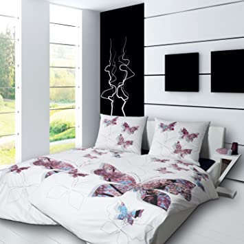 Bettwäsche Modern design mako satin bettwäsche modern 4112 kirschblüte