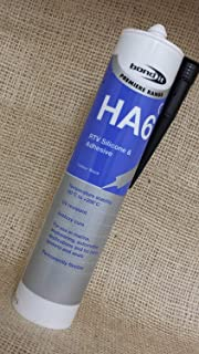 Bond-It HA6 Black Marine Adhesive Premium Silicone Sealant - EU3 310ml Cartridge - Suitable