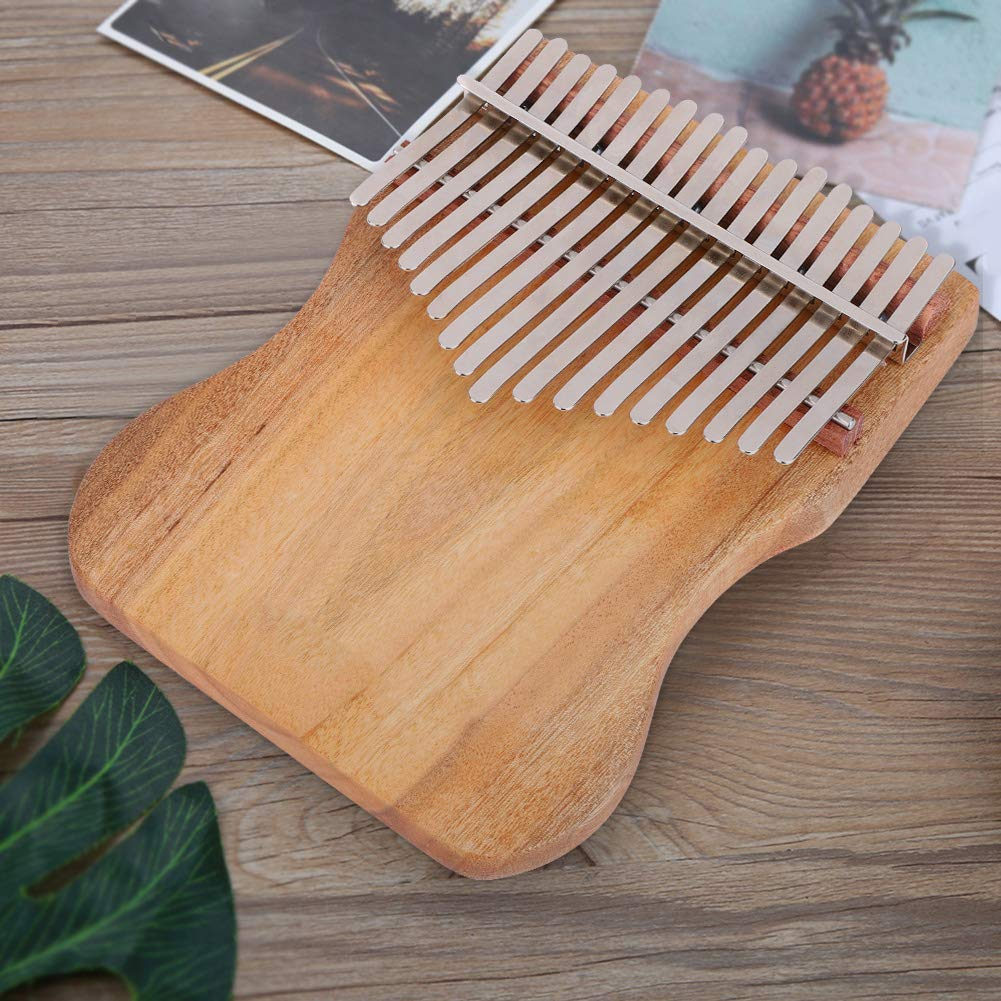 Kalimba 17 Keys Thumb Piano, Full Solid Camphor Wood Portable Thumb Piano with Drawstring Cloth Bag K17CAP for Children Friends Music Lovers by Dilwe (Image #6)