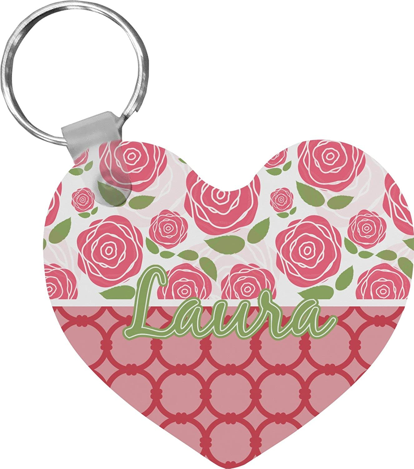 Roses Heart Keychain (Personalized)