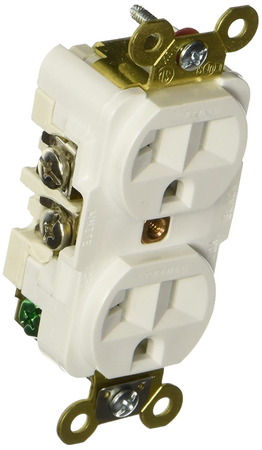 Hubbell HBL8300HW Hospital Grade Receptacle Outlet 20A 125V 5-20R White