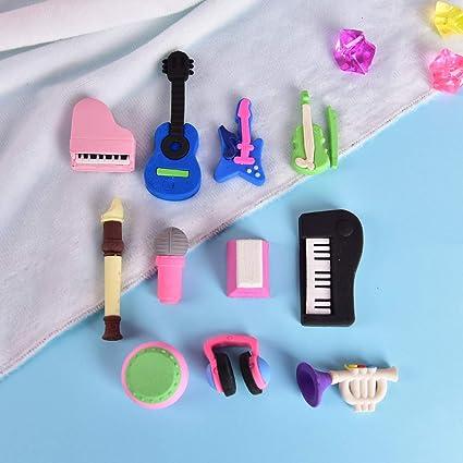 Goma de goma para borrar instrumentos musicales para niños, 10 ...