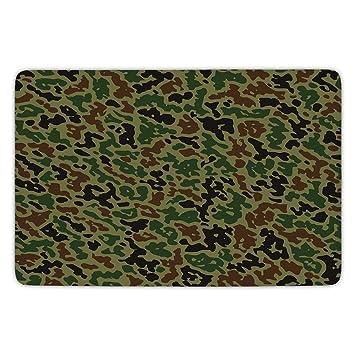 Amazon Com Bathroom Bath Rug Kitchen Floor Mat Carpet Camouflage
